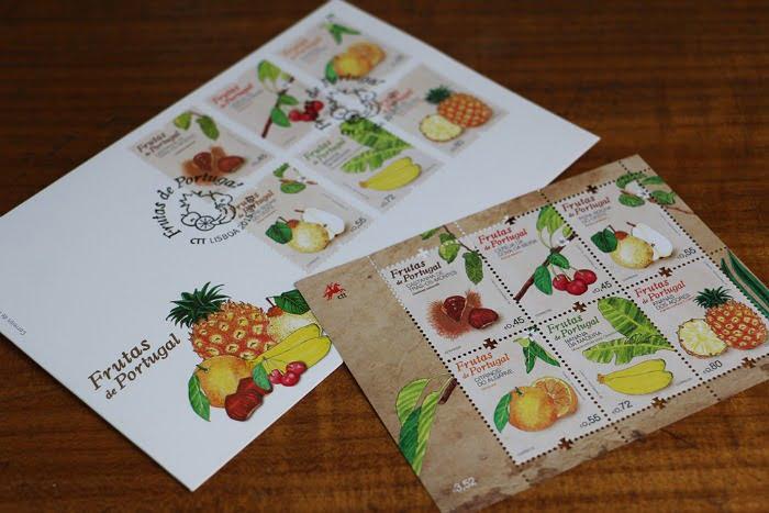 Frutas de Portugal - selos CTT 1