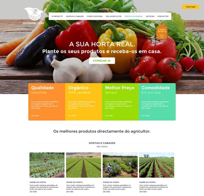 MyFarm - homepage do site