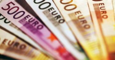dinheiro notas de Euro