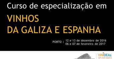 Cursos de Especialização Vinhos de Espanha e da Galiza