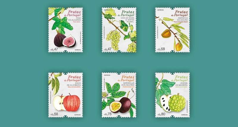 Selos CTT Frutas de Portugal Vida Rural