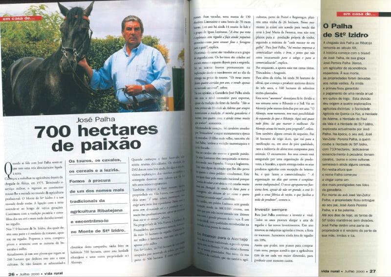 Artigo publicado há cerca de 17 anos (edição julho de 2000) na revista Vida Rural