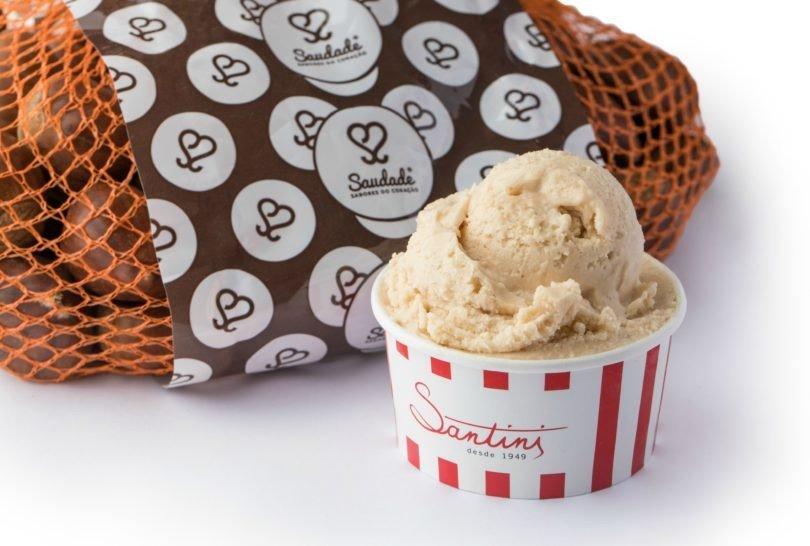 Santini cria novo gelado com castanha nacional