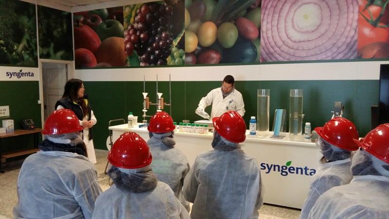 Vencedores das 24H Agricultura Syngenta visitam fábrica da empresa na Galiza