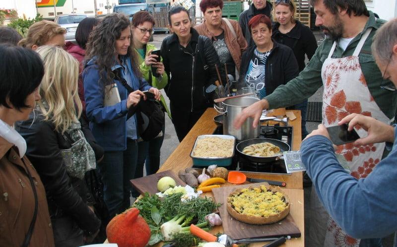 Produtores agrícolas locais de Liubliana fornecem escolas e creches