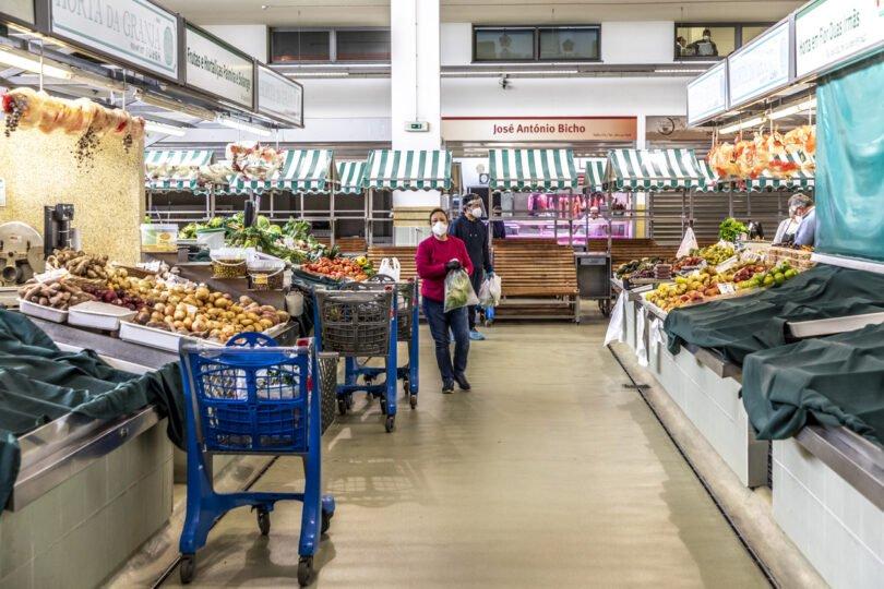 Mercado em tempo de covid.